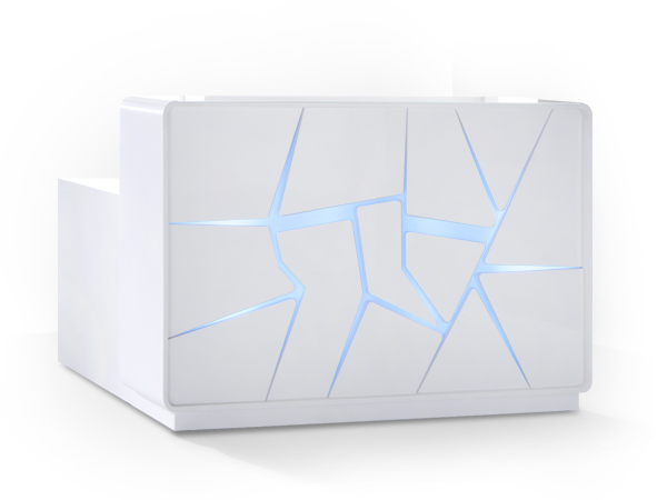 artic summer reception counter white