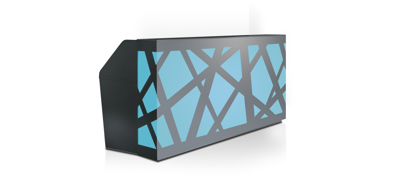 zig zag blue counter cover