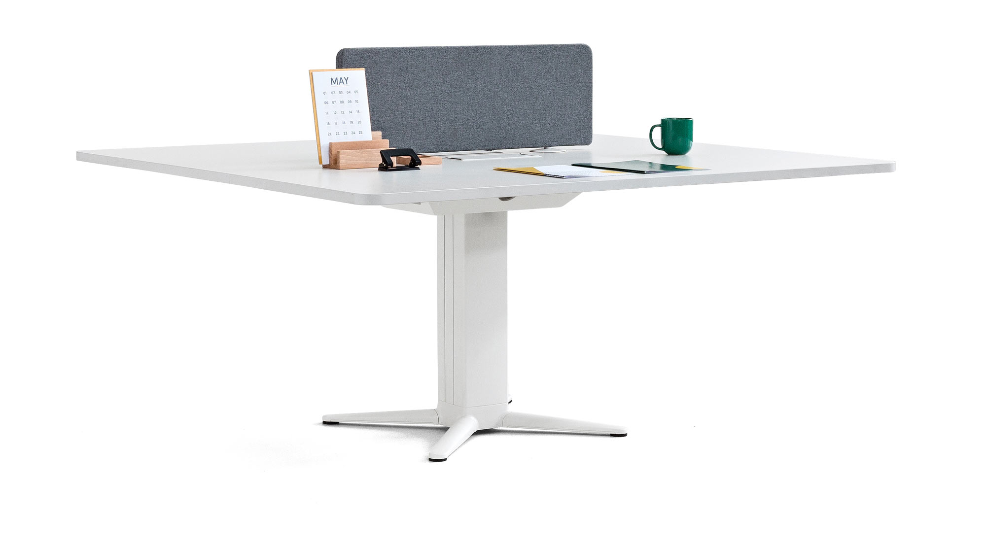 desk power operative executive tables white grey synchrony space privacy technology organization design quality mobility design fixedheight adjustable sharing masof actiu