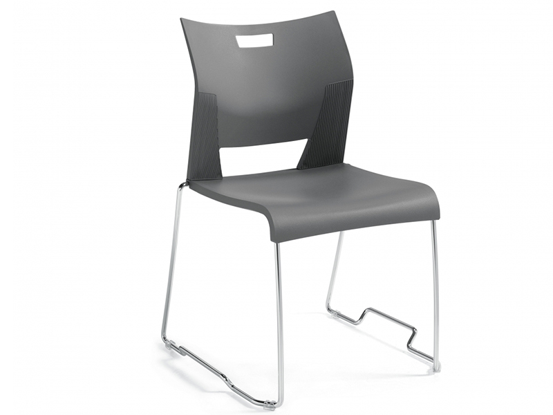 chair duet black meeting dining steel leg armless backrest simple easy store high density stackable solid frame chrome comfort smooth variety upholstered masof globalfurniture