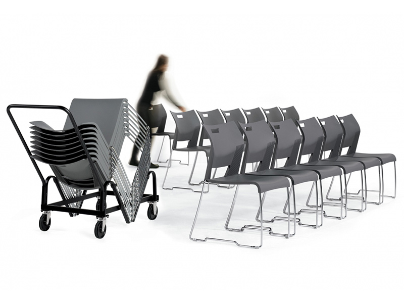 chair duet black meeting training auditorium room simple easy store stackable solid frame chrome smooth comfort variety polypropylene multipurpouse masof globalfurniture