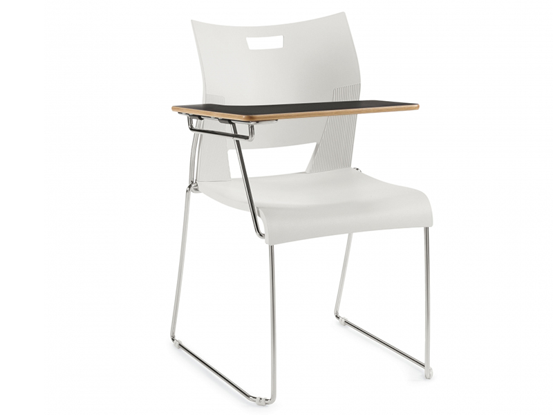chair duet white colors desing schooldesk casual meeting backrest simple easy store high density stackable solid frame chrome comfort smooth variety upholstered masof globalfurniture