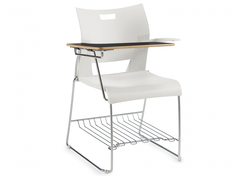 chair duet white desing schooldesk casual meeting backrest simple easy store high density stackable solid frame chrome comfort smooth variety upholstered storage masof globalfurniture