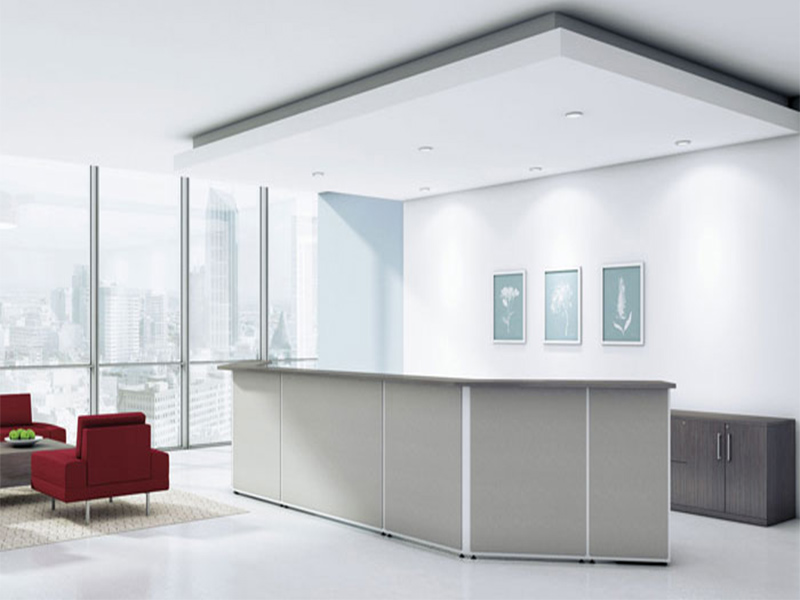 desks boulevard tables waiting areas smart design workspace reception counter functional customize clean crisp clever practical solution space style masof globalcontract