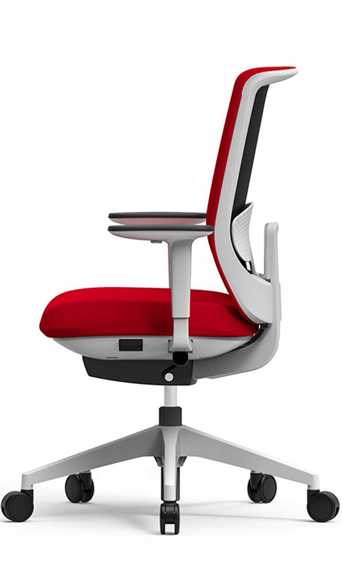 actiu office chair trim red