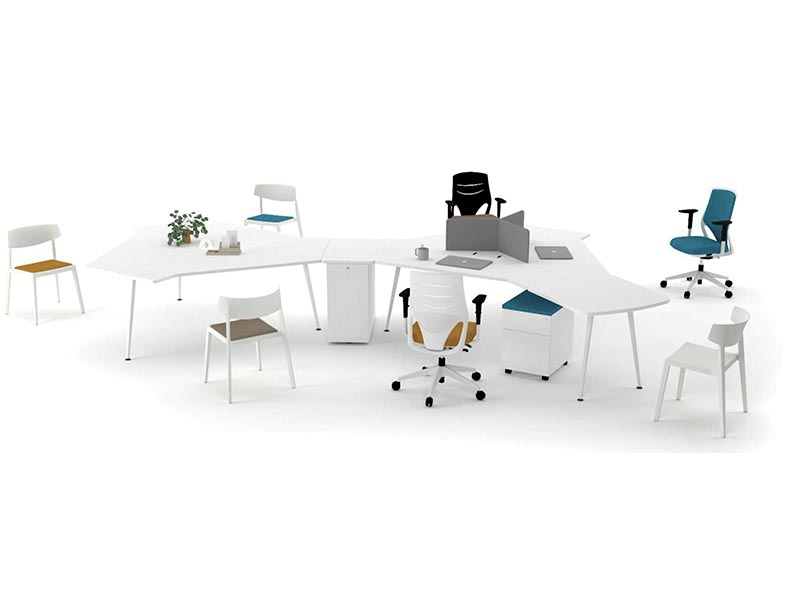 desk twist gen paradigm efit swing white blue mustard colorful cabinets configuration workspace organization technology operative connecting organic innovation masof actiu
