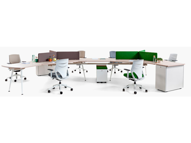 desk twist gen paradigm efit white grey green colorful cabinets configuration workspace organization technology operative connecting organic innovation modern masof actiu
