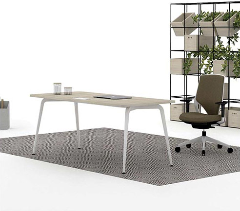 desk twist individual tables white blue efit brown structure technology light style structure contemporary office workplace modern organic aesthetic optimization masof actiu