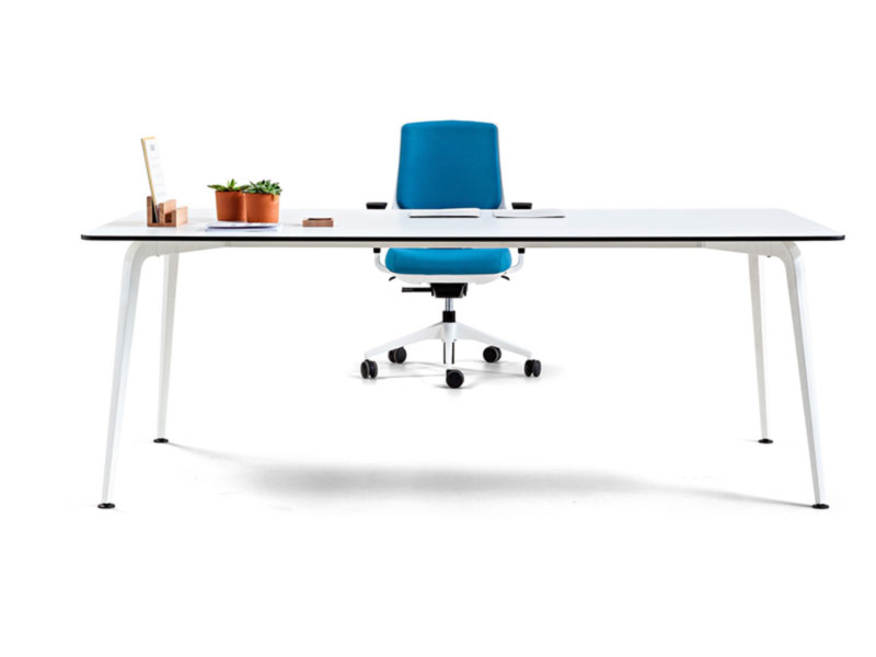 desk twist individual tables white blue efit efficent technology design style structure contemporary office workplace modern organic aesthetic optimization masof actiu