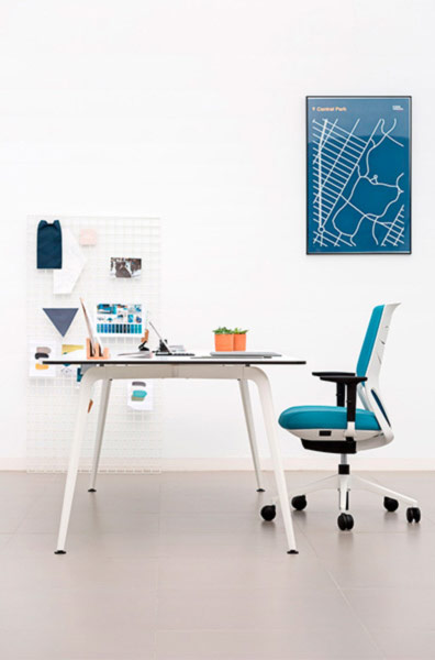 desk twist individual tables white blue efit sidelook structure technology system style structure contemporary office workplace modern organic aesthetic optimization masof actiu