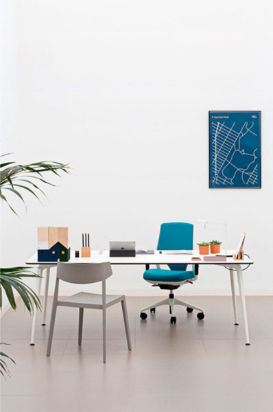 desk twist individual tables white blue efit swing efficent technology system style structure contemporary office workplace modern organic aesthetic optimization masof actiu
