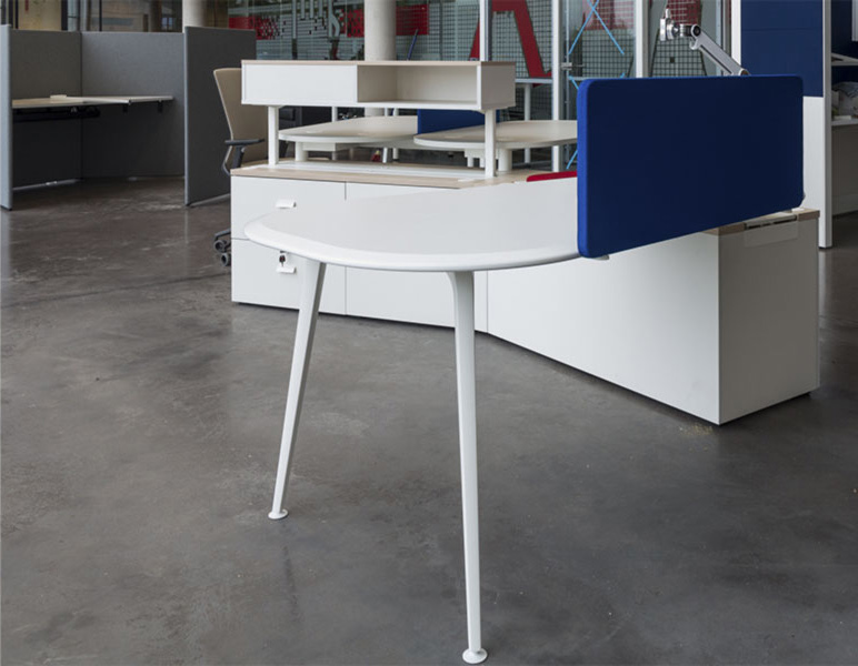 desk twist spine tables white blue colorful cabinets adjustable synchrony combination technology system adaptable contemporary office modern organic aesthetic concept masof actiu