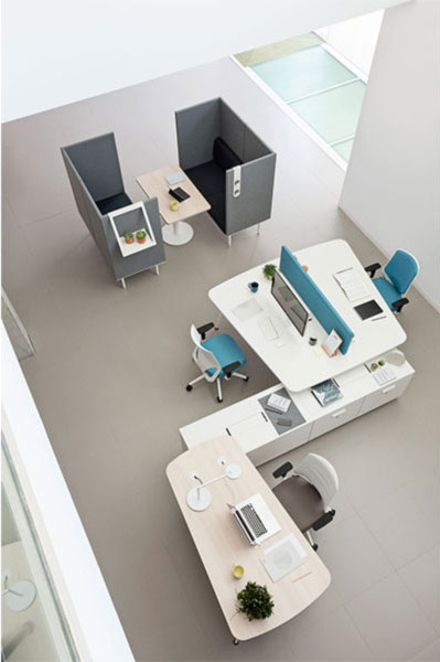 desk twist spine tables white efit blue peana privacy cabinets configuration technology system adaptable contemporary office workspace workstation modern connecting masof actiu