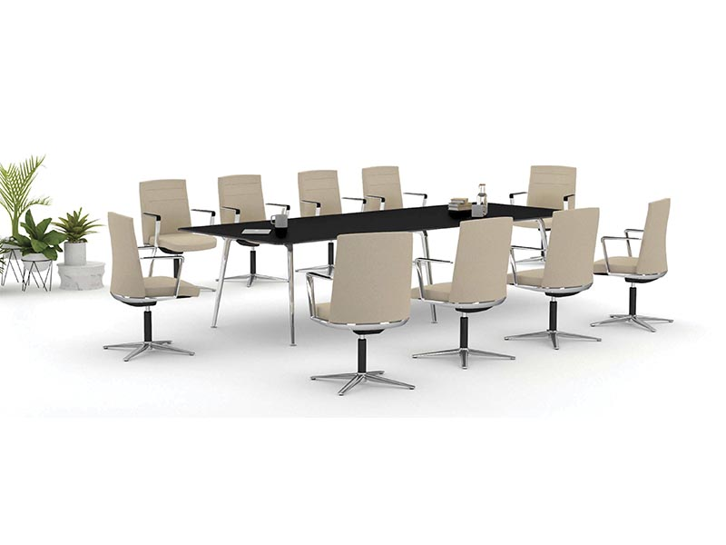 desk twist tables conference kados chair beige workplace technology executive adaptable contemporary office meeting sessions efficent optimization connecting masof actiu