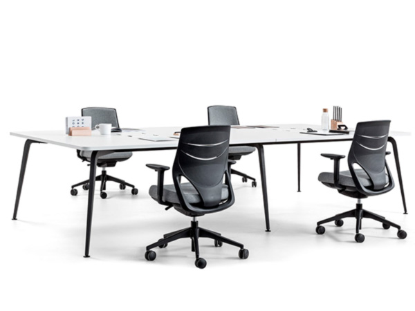 desk twist tables white conference efit chair black space technology connectivity adaptable contemporary office meeting workspace executive efficent optimization masof actiu